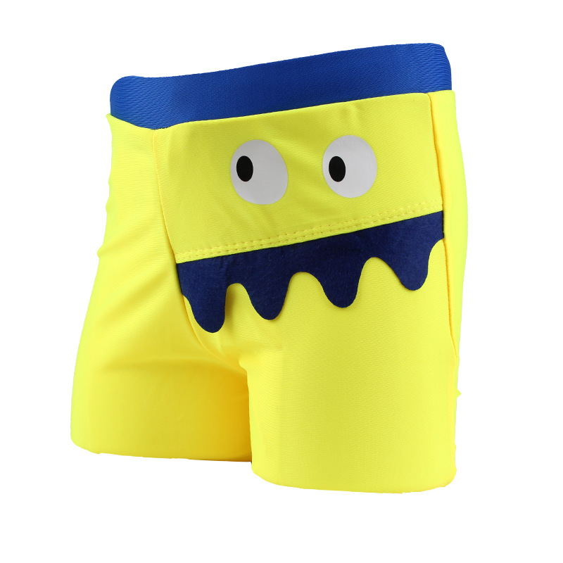 CHILDREN'S Swimming Trunks Korean-style Comfortable Boxer Cute Big Mouth Cartoon Baby Swimming Trunks Swimsuit For Boys