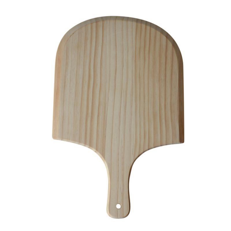 14 Inch Natural Wooden Pizza Tray Plate Charcuterie Board Pizza Spatula Shovel Paddle Baking Bakeware Pizza and Bread Tray Pizza|Storage Trays| |  - title=