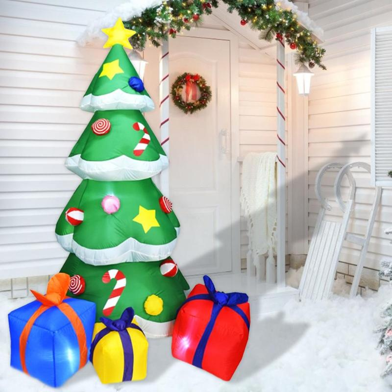 Image 4 - 1.5/2.1m Inflatable Christmas Tree 3D LED Christmas Decoration  For Home Outdoor Shop Display Window Decoration For ChristmasTrees   -