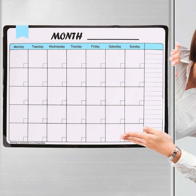 Monthly Planner Soft Magnetic Whiteboard Fridge Magnets Drawing Message Memo Pad
