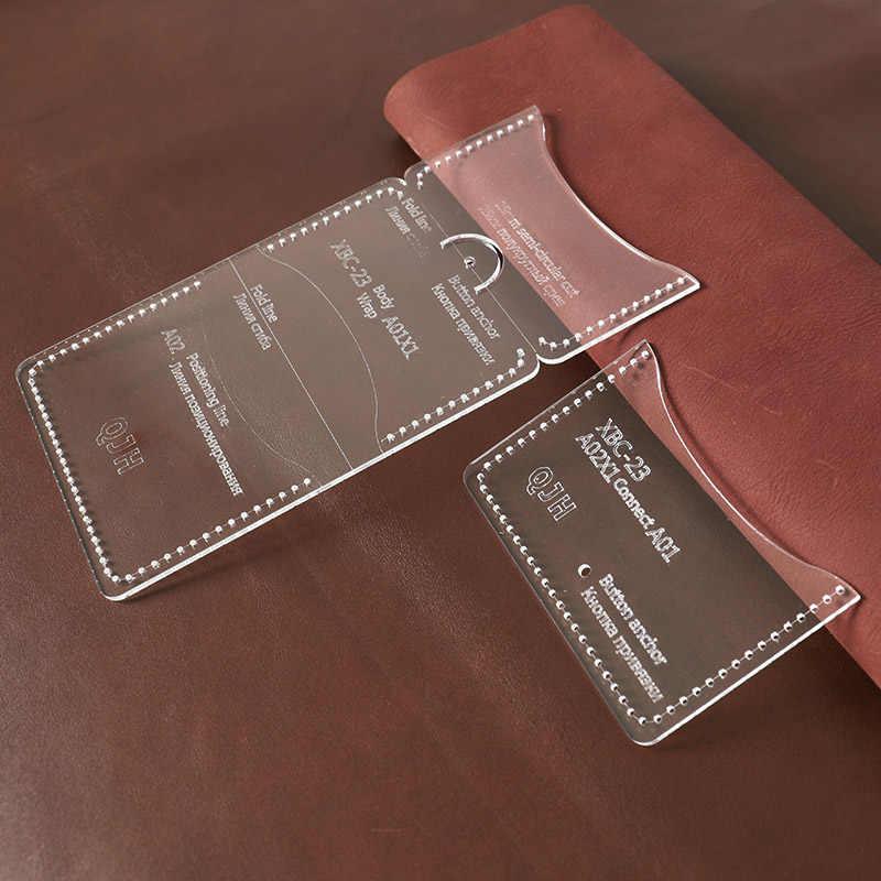 1Set DIY Acryl Vorlage Neue Ziemlich Trendy Wilden Geldbörse Karte Fall Leder Handwerk Muster DIY Schablone Nähen Muster 11*8,5 cm