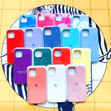 Official Original With Logo Case For Apple iphone 12 11 pro XS max XR X phone case for iphone 7 8 6 6S plus SE 2020 12 Pro cover