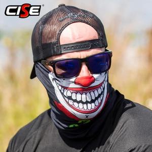 Image 2 - 3D Seamless Clown Joker Deadpool Balaclava Magic Warmer Motorcycle Breathable Mask Neck Gaiter Durag Headband Bandana Scarf