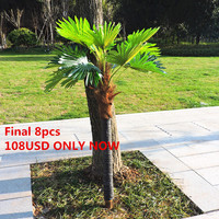Large 57 Latex Fabric Artificial Plant Fan Coconut Cover Palm Bush Tree Wood Stem Outdoor Wedding Home Decor