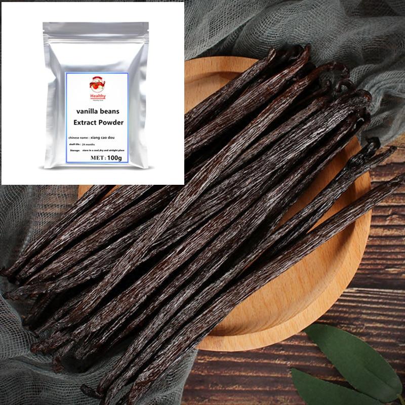 Высокое качество, экстракт ванильных бобов, порошок, натуральная ваниль, Planifolia класса А, Премиум, Madagascar, высший сорт, низкая цена, бесплатная ...