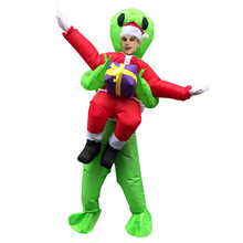 Women Men Inflatable Alien Costume for Christmas Cosplay Party Suit Halloween Carnival Outfits Purim Fancy Dress Adults Clothes chicken inflatable rooster rider costumes for adults halloween carnival cosplay party fancy dress women men birthday outfits red