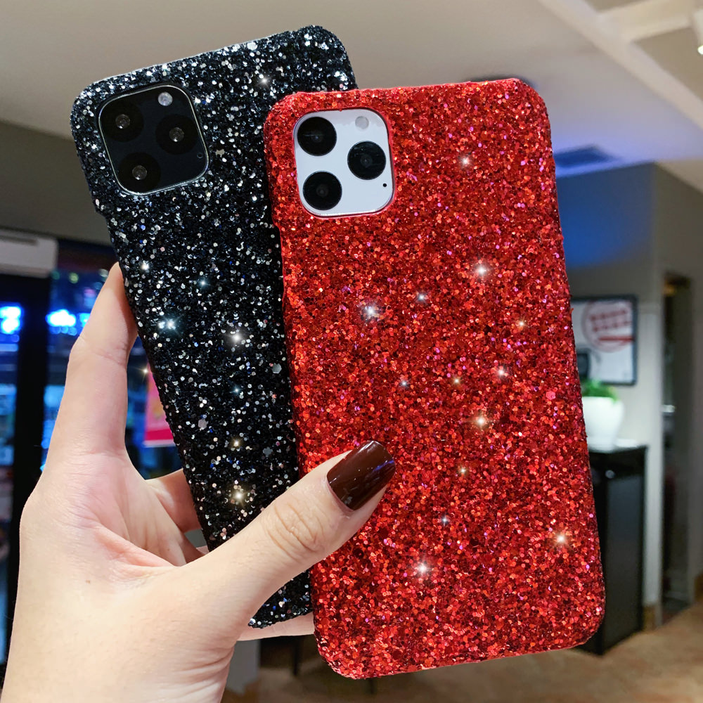 H5a726bbb462d4a13abb8bded107e509bg - LAPOPNUT Luxury Sparkle Glitter Phone Case for IPhone 11 Pro XS X Xr Xs Max 8 7 6 6s Plus SE Christmas Sequins Slim Cover
