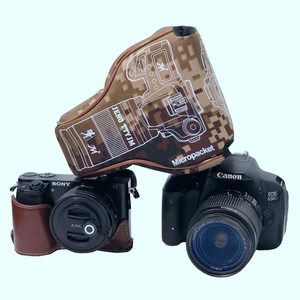 Image 5 - Triangle Waterproof Shockproof Camera Bag Lens Tube Micro Single Protective Case For Fuji XA3 Sony A7 A6500 Canon M5 Nikon D3500