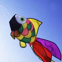 1pc Rainbow Fish Kite Windsock Outdoor Garden Decor Kids Line Laundry Kids Toys