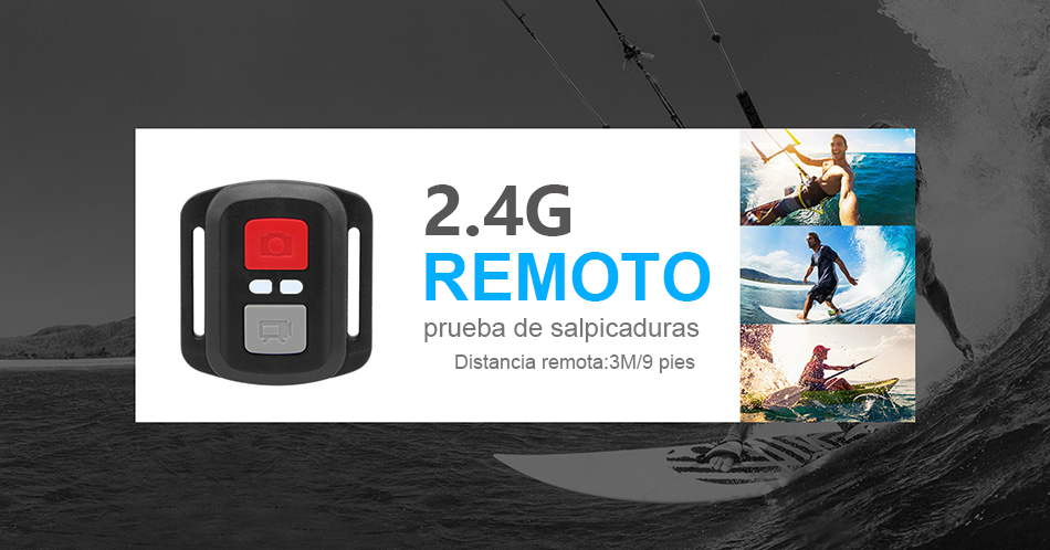 """EKEN H9R/H9 Ultra HD 4 K/30fps WiFi 2,0 """"170D impermeable bajo el agua 9"""