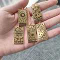 Tarot Necklaces For Women Best Friend Gold Stainless Steel Star World Sun Moon Eye Pendant Necklace Lucky Divination Jewelry BFF