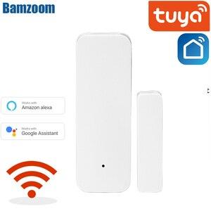 Home Smart Spot Door alarm/Tuya WiFi Door Sensor Door Open Closed Detectors WiFi App Notification Alert security alarm system(China)