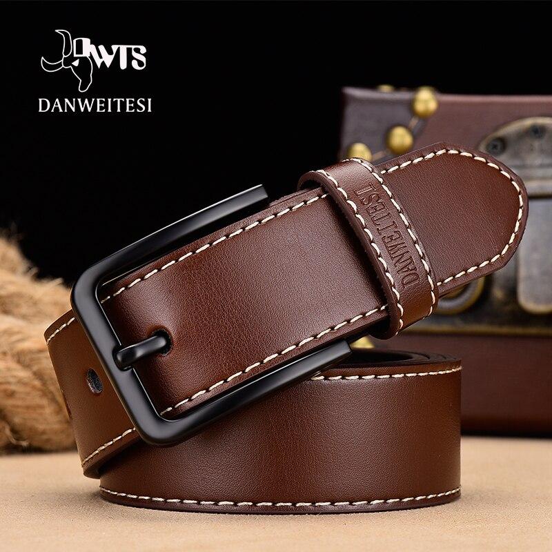 [DWTS]belt Male Men Belt Leather Belt Men Enuine Leather Strap Luxury Pin Buckle Casual Cummerbunds Ceinture Homme