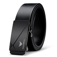 цена на Men's Belt  Genuine Leather Cowhide Straps For Male Automatic Buckle Belts For Men Alloy Buckle POLO18168P
