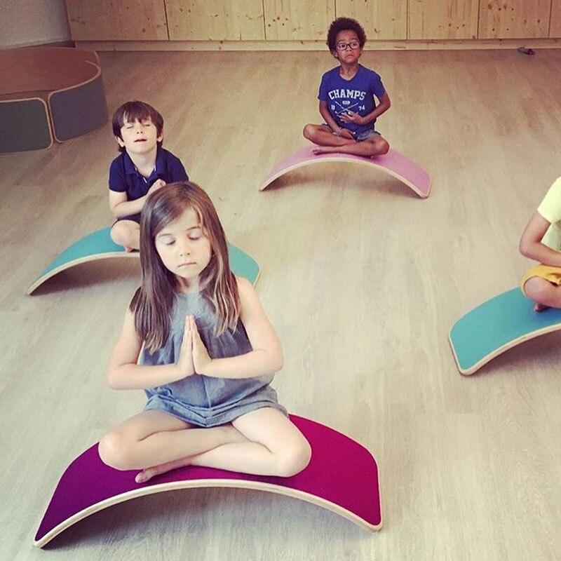 Enfant en bois Balance conseil corps oscillant équilibre entraînement torsion équipement de formation enfants Balance balançoire jouets - 4