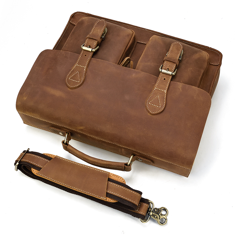 H5a72f0ba4743418cb098c0463a84aa0bE MAHEU Luxury Fashion 100% Genuine Leather Men Briefcase Cow Leather Laptop Bag Vintage Shoulder Bag Real Cowhide Computer Bag