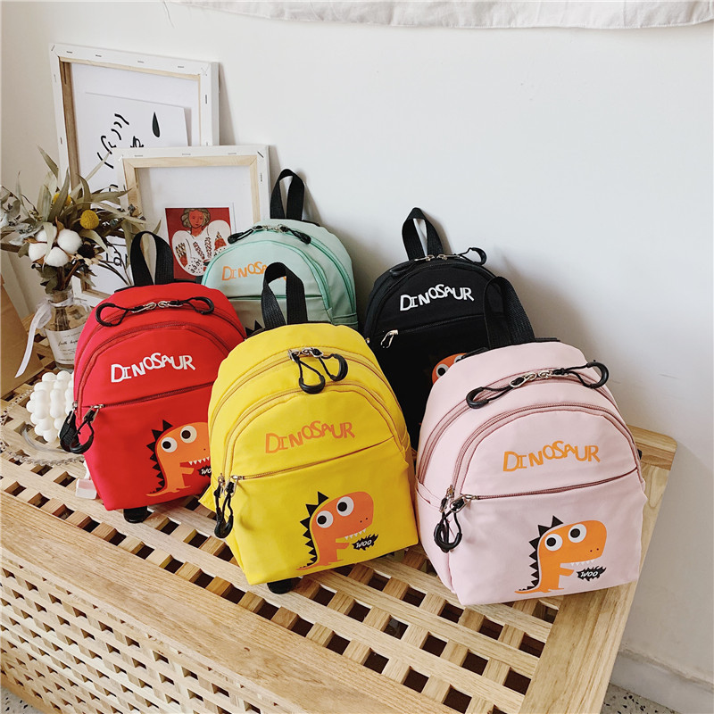 2019 New Children's Backpack Cute Cartoon Little Dinosaur Children School Bags For Boys Girls Toddler Kids Backpack