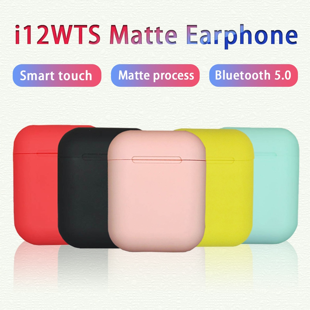 Original <font><b>i12</b></font> <font><b>TWS</b></font> 2019 matte <font><b>bluetooth</b></font> <font><b>earphone</b></font> <font><b>wireless</b></font> <font><b>bluetooth</b></font> <font><b>5.0</b></font> sport headset for iphone Android phone with retail box image