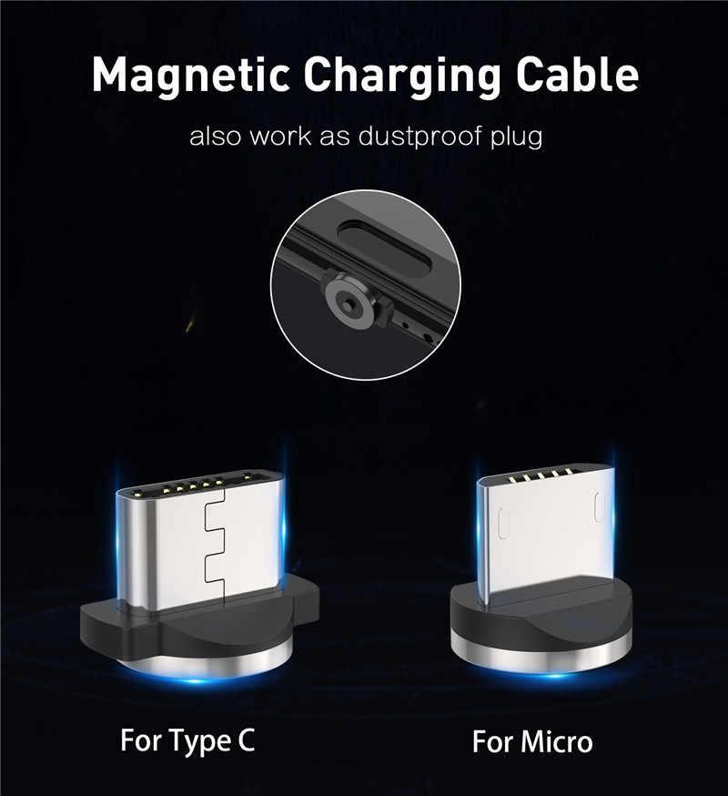 المغناطيسي نوع C USB كبل شحن الشرف 9X20 10 سريع الهاتف شاحن سامسونج S8 هواوي P20 لايت ماتي 20 10 9 P30 برو ممن لهم رينو