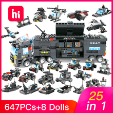 HIPAC 647PCs DIY Building Blocks 25 in 1 with 8 Figures High