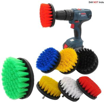 2pcs 5 Inch Drill Brush Attachment Cleaning Carpet Leather and Upholstery car polishing tools