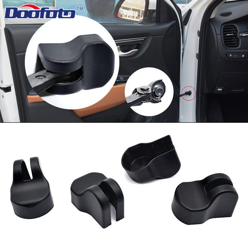 Doofoto 4x Car Door Limiting Stopper Cover For Kia Rio 3 4 Ceed Sorento Cerato 2011 2018 2019 Car Accessories Lock Cover Styling