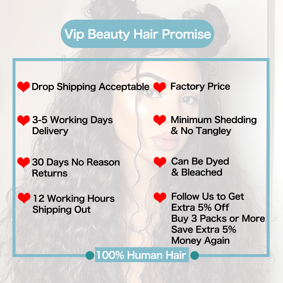 Vipbeauty Indian water wave weave bundles human hair bundles with lace closure remy hair extensions natural color