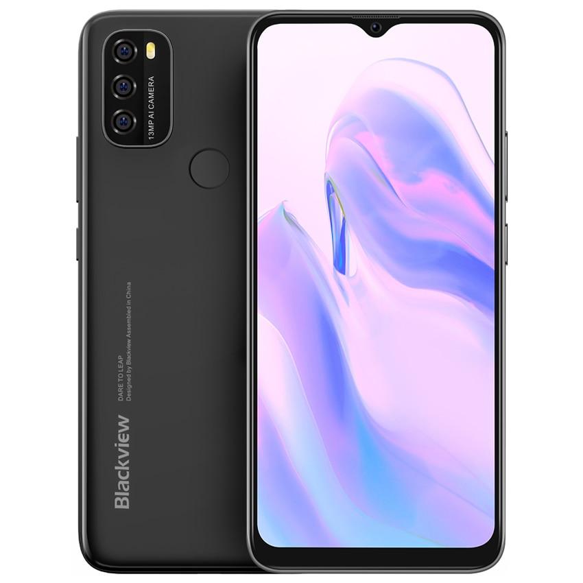 Blackview A70 Android 11 смартфон 4G 6,517 дюймов, четыре ядра, мобильный телефон, 3 Гб оперативной памяти, 32 Гб встроенной памяти, 5380 мА/ч, 13MP Камера телефон
