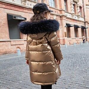 Image 4 - 2020 אופנה מותג ילדה למטה מעיל חם תינוק ילדים למטה מעיילי מעיל פרווה ילד נער עיבוי הלבשה עליונה לחורף קר