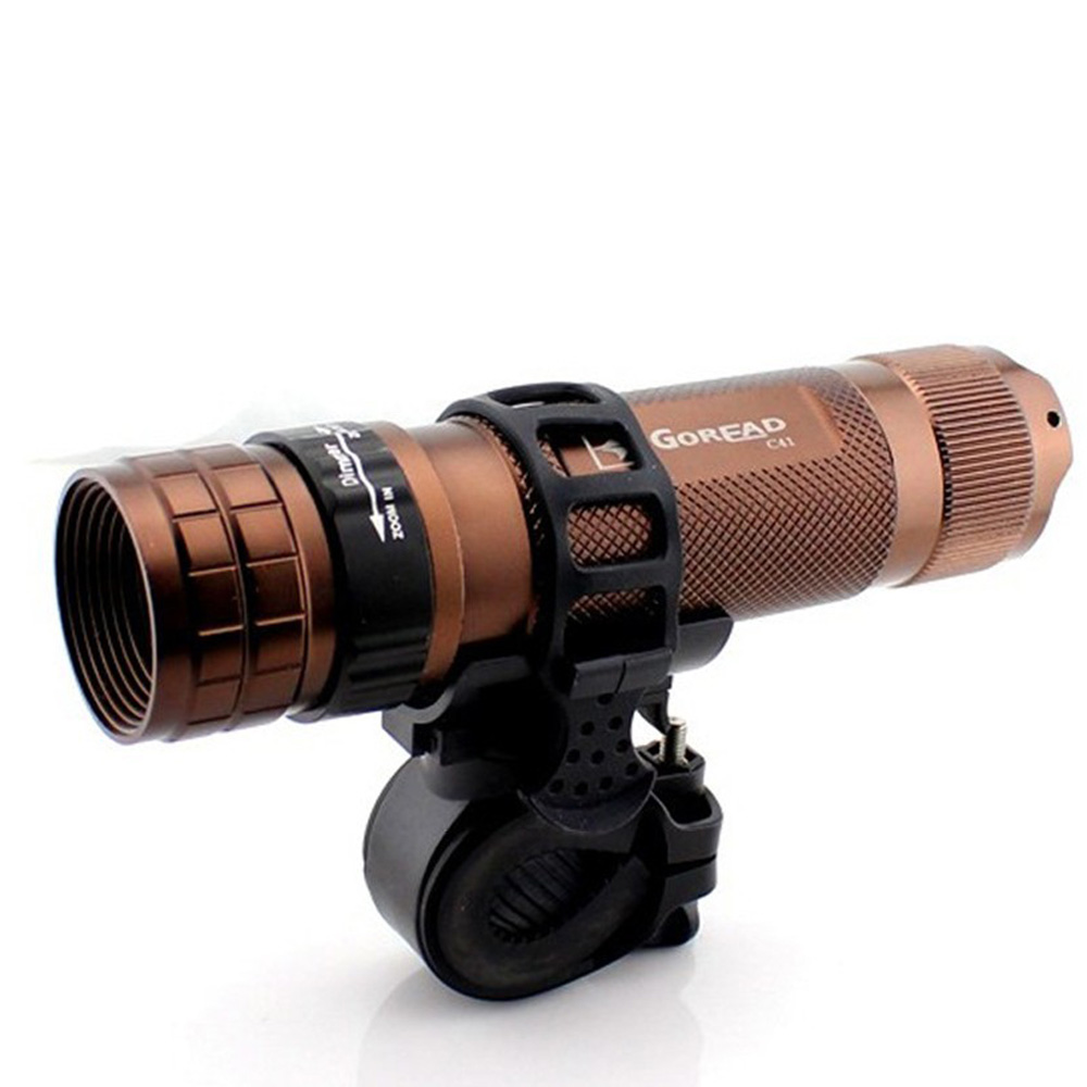 Adjustable 360° Bicycle Flashlight LED Torch Light Holder Rotatable Cycling Grip Mount Bike Clamp Clip