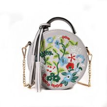 Women Flower Embroidery Tassel Handbag Shoulder Lady Leather Crossbody Bag Tote Messenger Satchel Purse