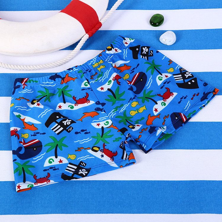 Stylish And Comfortable Cartoon Baby Boys' Swimming Shorts Floral Children Sports Swimming Trunks AussieBum