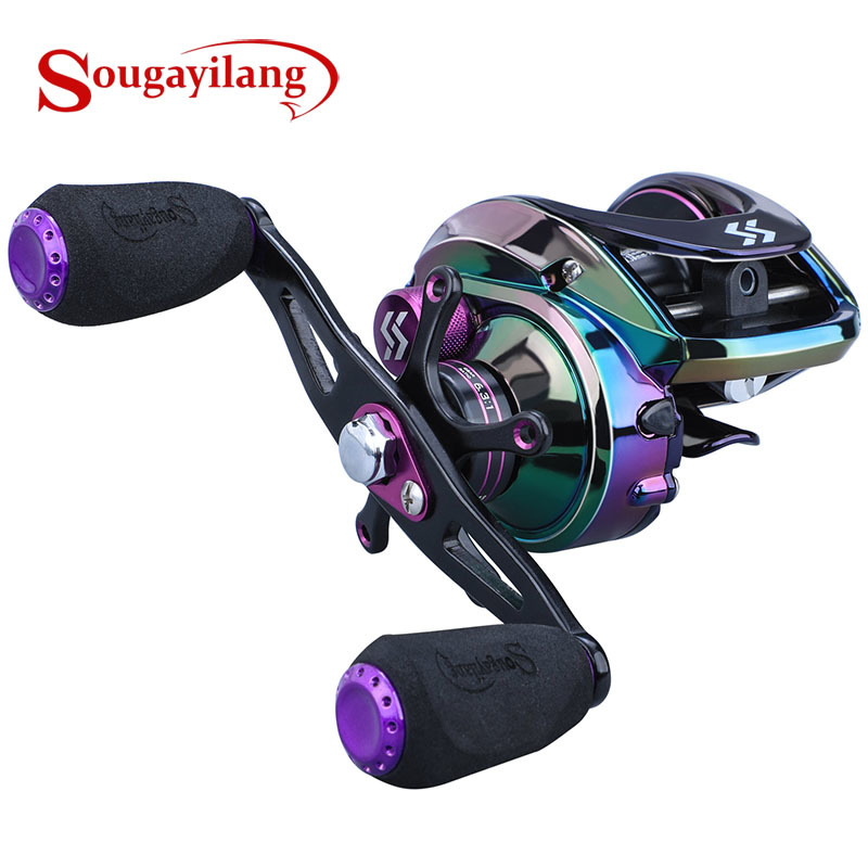 Sougayilang 6.3:1 High Speed Baitcasting Reel 9+1BB 190g Multicolor Casting Fishing Reel Max Drag Power 22LB Carp Fishing Tackle