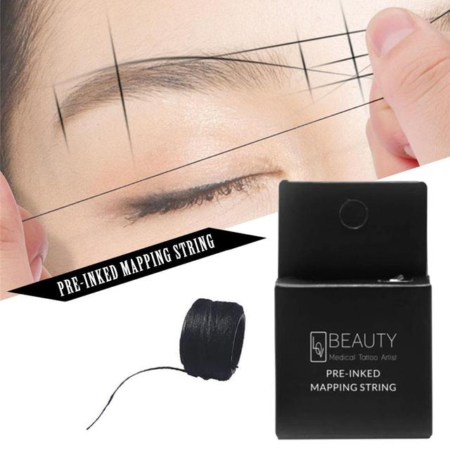 10M Mapping Pre-ink String For Microblading Eyebow Makeup Dyeing Liners Thread Semi Permanent Positioning Eyebrow Measuring Tool 5