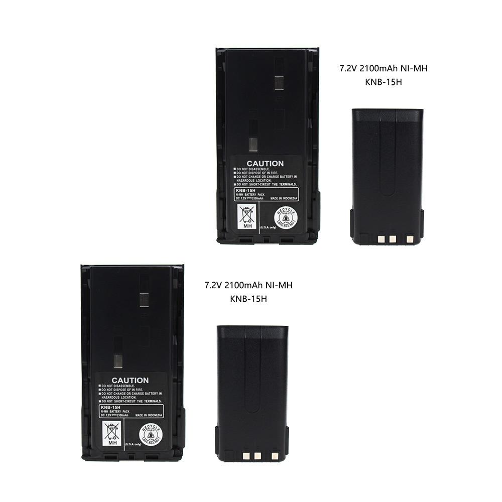 2X 2100mAh KNB-15A Battery(s) For Kenwood TK260G TK360G TK272G TK372G TK2100 TK3100