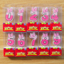 New Birthday Number Candles Cartoon Pink minnie  Candle Cake Cupcake Topper Party Decoration Supply