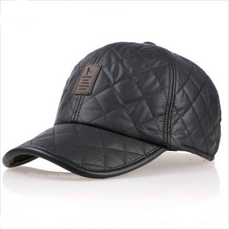 2019new Autumn Winter  Baseball Cap Men Fashion Caps Waterproof Fabric Hats Thick Warm Earmuffs Baseball Cap