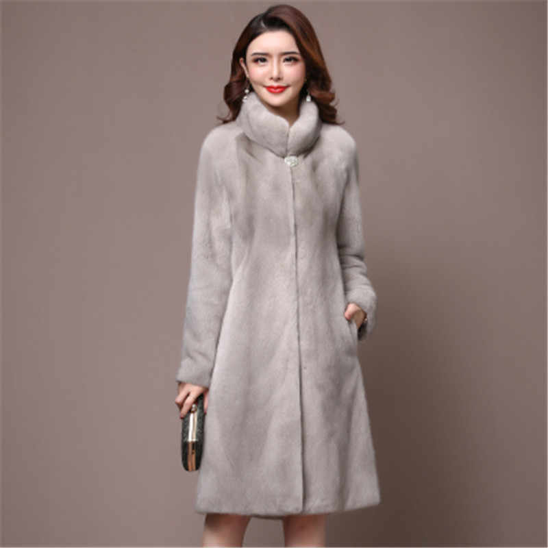 2020 winter new womens boutique mink fur coat women loose Plus size thick long fur coats luxury warm Outerwear winter jackets