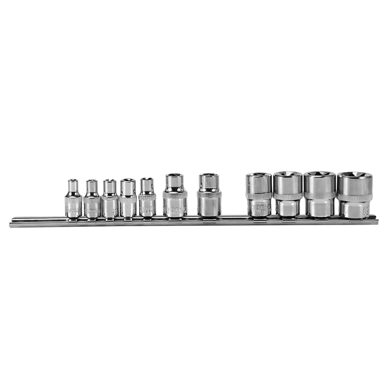 Socket Storage Rack Holder Divider 1/4 inch 3/8 inch with Hexagon Socket on Rail Store Sockets Tool Organizer Wrench Storage Rac