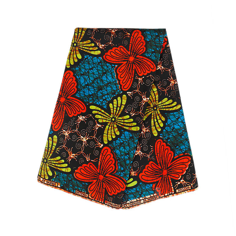 2019 New Design African Print Real Wax Fabric 6 Yards/Piece Pagne
