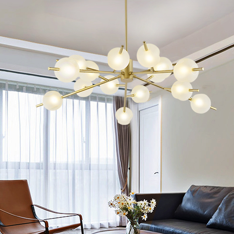 Northern Europe Magic Bean A Chandelier Post Modern A Living Room A Chandelier Round Ball Glass Restaurant Lamps And Lanterns