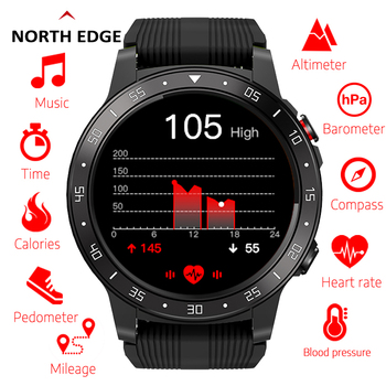 Northedge GPS Smart Watch Running Sport GPS Watch Bluetooth Phone Call Smartphone Waterproof Heart Rate Compass Altitude Clock free shipping makibes mk01 smart watch 1mb 16gb wifi 4g gps heart rate bluetooth quad core google map browser i7 watches phone