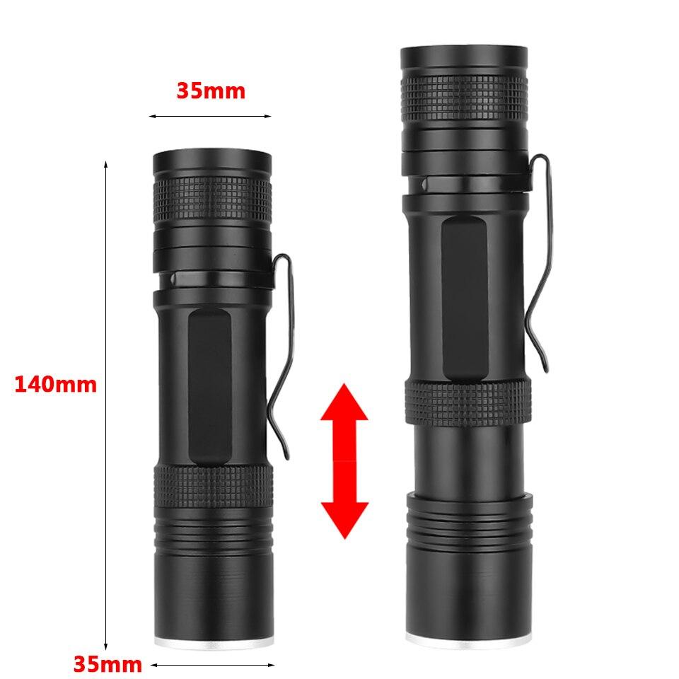 Купить фонарь led flash светильник xlamp 1*18650 или 26650 перезаряжаемый