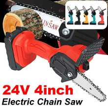 Woodworking Electric Chain Saw Cordless Electric Pruning Saw Protable Mini Chainsaw Garden Logging Woodworking Tool With Battery