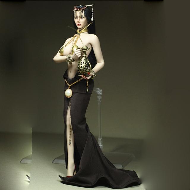 """NUOVA Scala 1:6 metallo dorato bracciali collana da 12/"""" PH UD corpo donna Bambola"""
