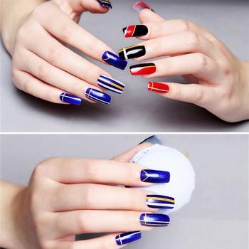 10Pcs/Set Nail Art Tool Set Manicure Buffers Glitter Nail Brush Dotting Pen Line Stickers Decorations Kit Artificial for DIY 6
