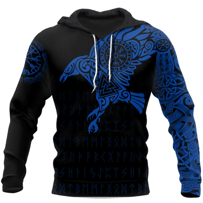 The Raven of Odin Viking 3D Printed Hoodie 4