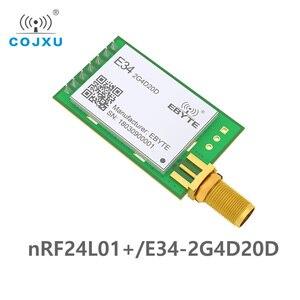Image 2 - E34 2G4D20D nRF24L01P 2,4 ГГц 20dBm 2,4 ГГц радиочастотный модуль беспроводной большой радиус действия 2 км UART дальний радиочастотный приемопередатчик модуль