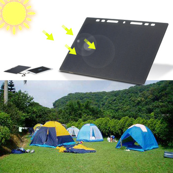 xionel etfe 10w folding solar panel charger with dual usb ports for all 5v digital cell phones emergency camping 10W High Power Paper Shaped Mini Portable Monocrystalline Silicon Solar Panel Charger USB Port for Cell Phone Camping Riding