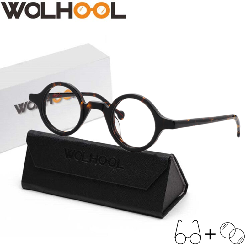 1.56 1.61 1.67 Round Glasses Optical Spectacle Prescription Glasses Hyperopia Myopia Single Version Progressive Eyeglasses image